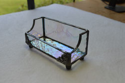 Clear Iridescent Hammered Stained Glass