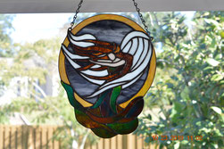 Angel of Wind Stained Glass Hanging Panel