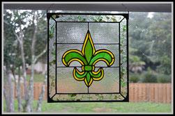 Green Fleur de Lis Panel