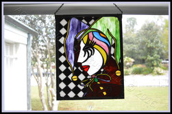Original AGA Jester Panel ©Acadian Glass Art LLC 2016. All Rights Reserved.