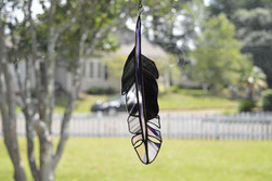 Art Glass Feather Suncatcher