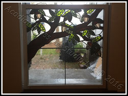 Original AGA Oak Tree Branch Window ©Acadian Glass Art LLC 2016. All Rights Reserved.
