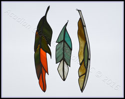 Art Glass Feathers  © Acadian Glass Art LLC 2016. All Rights Reserved.