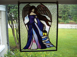 Angel of Hope Stained Glass Panel
