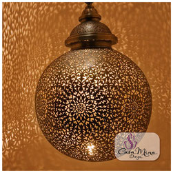 Mina Design orientalische filigrane Lampe Deckenlampe marokkanische Hänge Zenza Leuchte Laterne Handarbeit