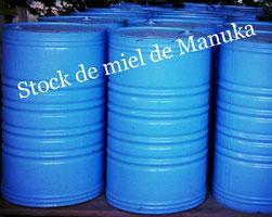 Fûts de miel de Manuka