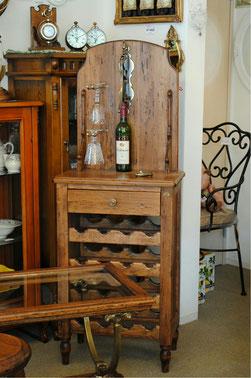 ワインテーブル おしゃれ テーブル ワインオープナーテーブル ワインラックテーブル 木製 イタリア製 古木 真鍮 カパーニ アンティーク CAPANNI