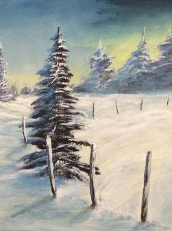 Peinture paysage isèrois