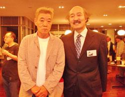 日本昔話のパーティにて、俳優・声優の柄本明さんとツゥーショット