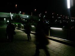 隅田川沿いの桜橋を歩きます