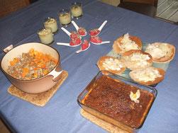 repas de fin d'année végétarien