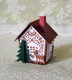 Weihnachtshaus Geschenkbox