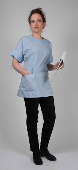 blouse pro - tunique Zenith rayé bleu