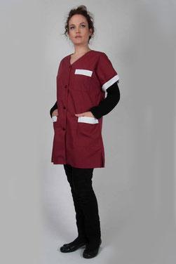 blouse pro Valy tissu polycoton bordeaux