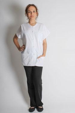 blouse pro - tunique Domi blanc