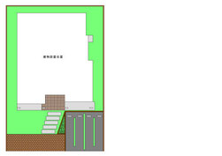 住宅 ペーパークラフト 外構パーツ