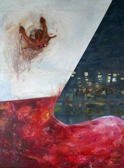 Titel: Bugwulst • Format:  60 cm x 80 cm • Technik: Acryl auf Leinwand