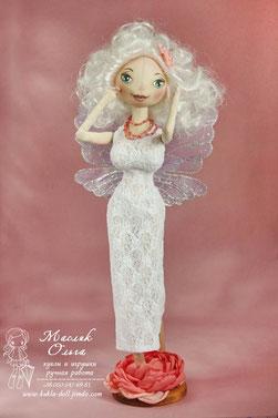 кукла Фея, круглоголовая кукла.  Авторские текстильные куклы Маслик Ольги