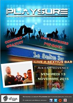 Playsure concert Sextius Bar