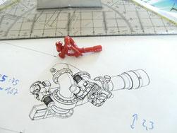 Löschmonitor nach 2D Originalzeichnung