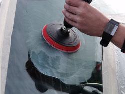 Glaspolitur und Glas polieren