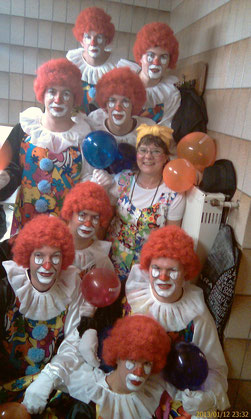 """""""Scary Clowns"""" die Tanzgruppe der FFW Wörnitz"""