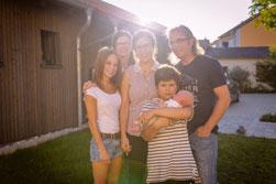 Familie Beißer auf ihrem Ferienhof in Franken