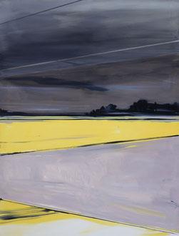 Matthieu van Riel. Schilderij. Hollands landschap (avondlicht) 160x120cm olie op canvas 2011