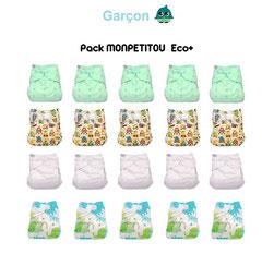 pack couches lavables économique, pack couches lavables eco+