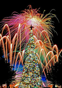 Fuochi d'artificio feste di Natale e Capodanno