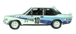 grafica completa vettura da rally fiat 131 abarth fiat bianco blu di pubblimais a torino