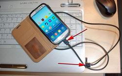 Connexion smatphone - ordinateur portable