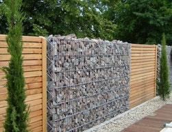 Murs pare blocs, gabions pare blocs,Murs libres gabions, clôtures en gabions, gabion pour une cloture, cloturer avec des gabions