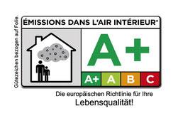 Bild A+ Umweltzeichen für Spanndecken der CILING Decken und Licht GmbH