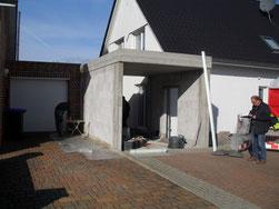 Garage als späterer Anbau