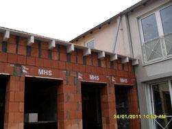Mauerwerksbau als Anbau