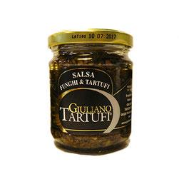 Salsa con hongos y trufa negra en bote de 80gr (8,00€ und)