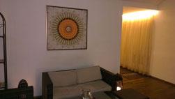 Leinwand mit Silber-Schattenfugenrahmen, 100x100cm