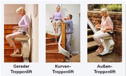 Gerader Treppenlift, Kurven Treppenlift, Außen Treppenlift