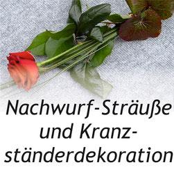 Bild: Nachwurfsträuße + Kranzständerdekoration