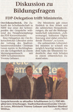 Artikel der Stimberg Zeitung vom 24.1.2018