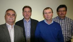 v. links: Rudolf Klambauer, Karl Kreuzhuber, Johann Eder und Leopold Lobmaier