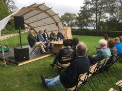 """Pressekonferenz zum Projekt """"Mit Sicherheit gut ankommen"""" mit  Bürgermeister Golde (Neuruppin) und Landrat Reinhardt (OPR)"""