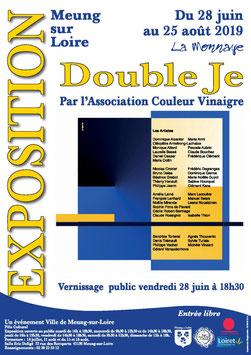 """Claude Rossignol - Affiche Expo """"Double Je"""" Meung-sur-Loire 2019"""