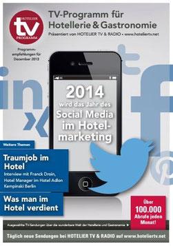 HOTEL TV PROGRAMM Dezember 2014 - 2014 wird das Jahr der Social Media im Hotelmarketing