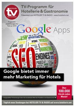 HOTEL TV PROGRAMM - Februar 2014 - Google bietet immer mehr Marketing für Hotels - Ratgeber für Hotelmarketing