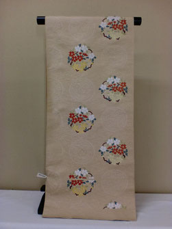 花丸紋模様 織名古屋帯