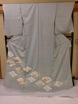 深川鼠色の上品な京友禅の色留袖