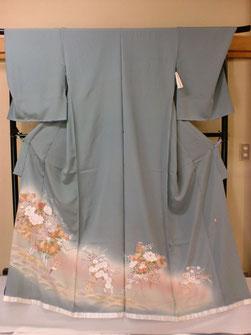 浅黄色京友禅色留袖一つ紋仕立て上がり130,000円