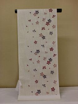 桜柄 織名古屋帯